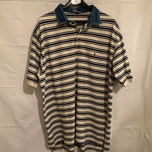 😍 Striped Polo Shirt - Mens